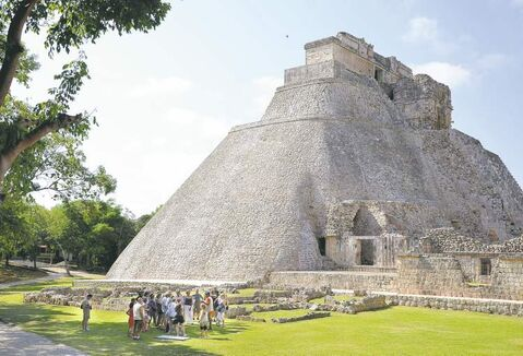 Maya priests complain that authorities have barred them from performing rituals at their ancestral temples, such as Uxmal in the Yucatan (above).