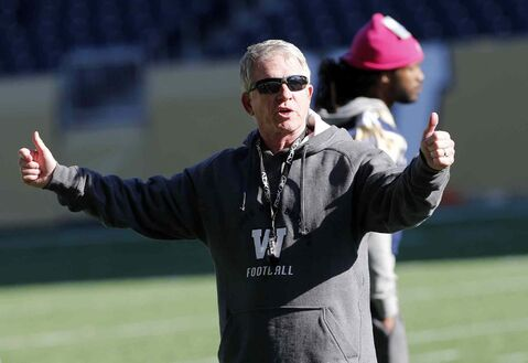 Winnipeg Blue Bomber coach Tim Burke: 'play it one play at a time.'