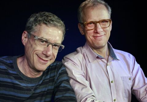 In this Friday, Jan. 24, 2014 photo, Directors Jeffrey Friedman, left, and Rob Epstein pose for a portrait during an interview in Los Angeles. Their latest film,