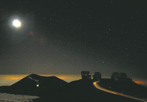 A striking nighttime image from Hawaii in The End of Time.