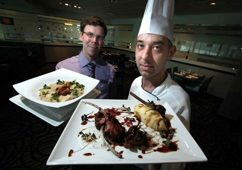 Blue Marble food and beverage manager Brett Crellin (left) and chef Anthony Kucera.
