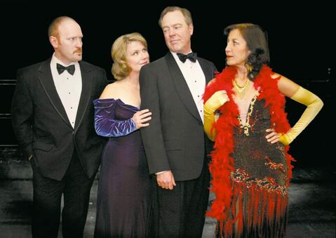 From left, Nattrass,  Fletcher,  McKeag  and Gorlick  in Dry Cold  Productions' Follies at the Berney Theatre.