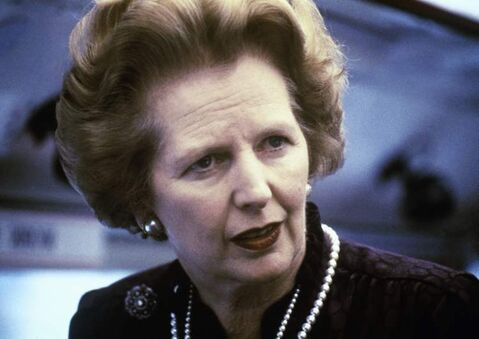 Former British Prime Minister Margaret Thatcher (seen here in 1969).