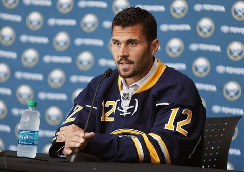 New Buffalo Sabres hockey player Brian Gionta speaks during a press conference at the First Niagara Center in Buffalo, N.Y. Wednesday, July 2, 2014. (AP Photo/The Buffalo News, Charles Lewis) TV OUT; MAGS OUT; MANDATORY CREDIT; BATAVIA DAILY NEWS OUT; DUNKIRK OBSERVER OUT; JAMESTOWN POST-JOURNAL OUT; LOCKPORT UNION-SUN JOURNAL OUT; NIAGARA GAZETTE OUT; OLEAN TIMES-HERALD OUT; SALAMANCA PRESS OUT; TONAWANDA NEWS OUT