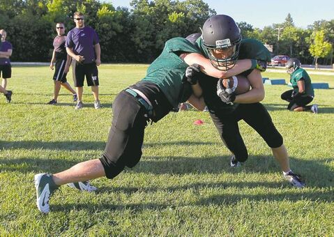 The Vincent Massey Trojans were hard at work Wednesday night. They leave this weekend for a trip to Hawaii.
