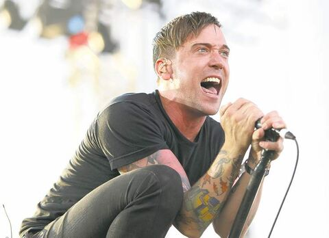 Vocalist Ben Kowalewicz of the Ontario band Billy Talent.