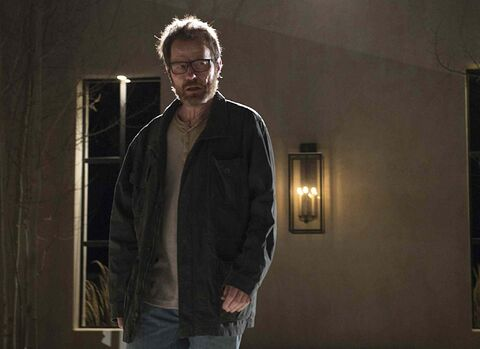 Bryan Cranston as Walter White in a scene from the series finale of 'Breaking Bad.'
