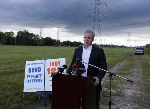 Against Thursday's dark clouds and sun, Gord Steeves wonders how  major projects like the BRT will be financed.