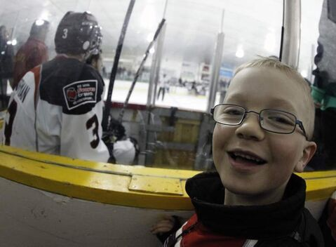 Seven-year-old Ashton Cure from St. Malo enjoyed every minute of Keystone Cup final action Sunday.