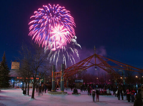 The New Year's fireworks display at The Forks is an annual tradition for many families.