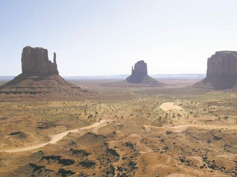 Hollywood filmmakers shot many Westerns at awe-inspiring Monument Valley, along the Utah-Arizona border.