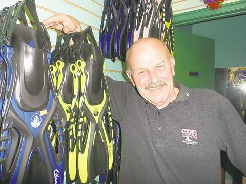 Ian Sutherland, owner of  3 Fathoms Scuba