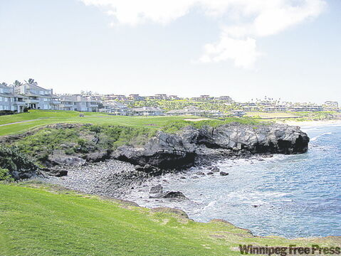 The fifth hole on the Bay Course in Kapalua, one of Hawaii's premier resort areas.