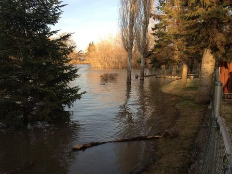 The Swan River is rising in the town of Swan River, 500 kilometres northwest of Winnipeg.