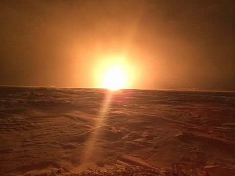 RCMP released this photo of the pipeline explosion and fire near Otterburne, Man., early Saturday morning.