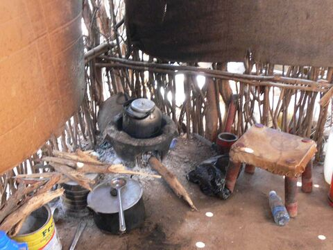 The kitchen at Farah and Hassan Mohamed Abdi's home.