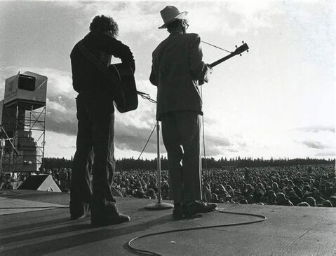 Mainstage performers at the Winnipeg Folk Festival on July 6, 1983.