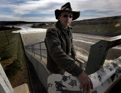 Landowner Gene Nerbas, seen at the spillway of the Shellmouth Dam, says province's delays are 'shameful.'