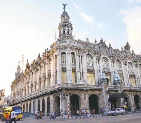 Architecture in Havana spans centuries of styles, including the baroque-style Teatro de Gran Havana, the home of the renowned national ballet company.