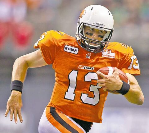 B.C. Lions� backup quarterback Mike Reilly.