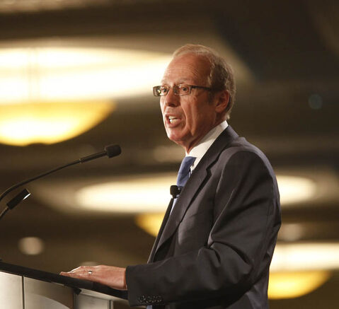 Mayor Sam Katz, speaking at a Winnipeg Chamber of Commerce luncheon in his annual state of the city address Friday, says the city is in a period of renewal.