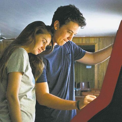 Shailene Woodley and Miles Teller.