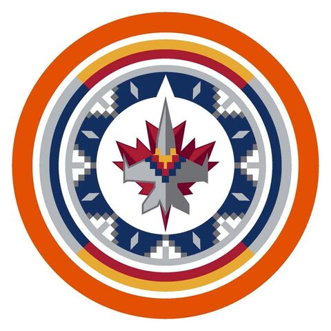 SUPPLIED                                                                                                                                  For the remainder of the Stanley Cup Playoffs, Winnipeg Jets players will wear special helmet decals displaying the Indigenized Jets logo designed by Indigenous artist Leticia Spence from Pimicikamak First Nation, and surrounded by an orange circle, symbolic of the lasting impacts of residential schools among Indigenous peoples. Additionally, to show their support, Montreal Canadiens players will wear special decals on their helmets with an orange outline around their logo.  Winnipeg Free Press 2021