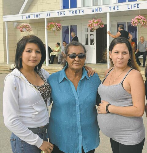 Three generations of targeted First Nations females, (from left):  Destiny, her mother, Astra Thomas, and grandmother, May Thomas.