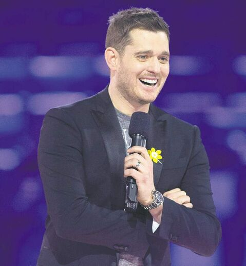 This year's Junos host Michael Buble told reporters there's a bigger buzz in Regina.