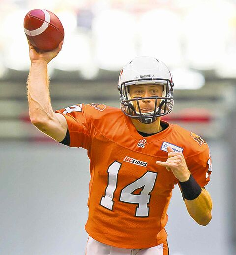 Quarterback Travis Lulay will miss B.C.'s game in Winnipeg on Sept. 27.