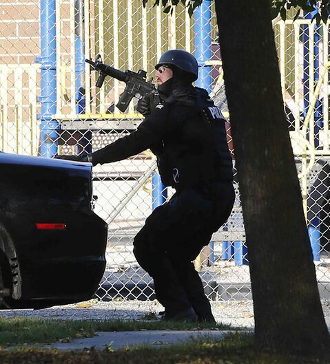 Winnipeg police K-9 and tactical team has finished searching a house on St. John's Avenue.