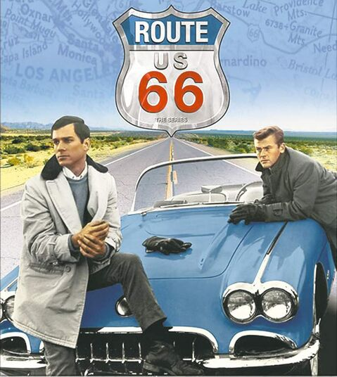 George Maharis, left, and Martin Milner starred in the 1960-64 TV show Route 66.