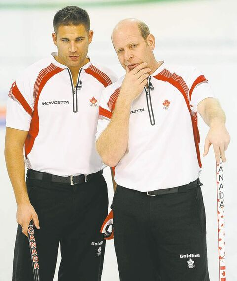 Third John Morris (left) and skip Kevin Martin ruled the curling world for five years.
