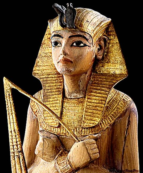 Tutankhamun Shabti, the only such figure found in the Antechamber, is one of the largest of the servant statuettes.