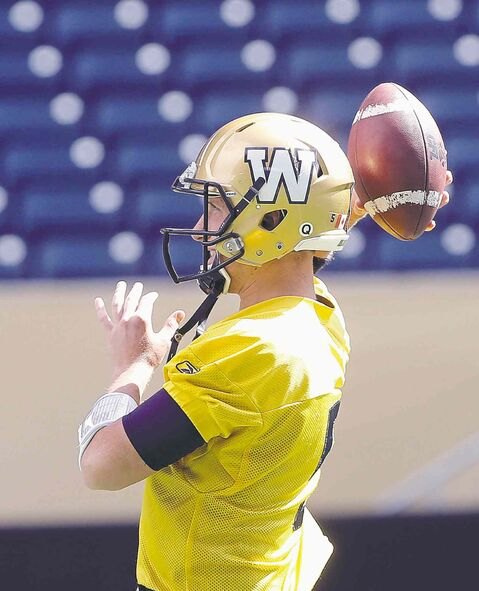 Bombers QB Drew Willy was throwing comfortably Friday, a day after his right hand got dinged in practice.
