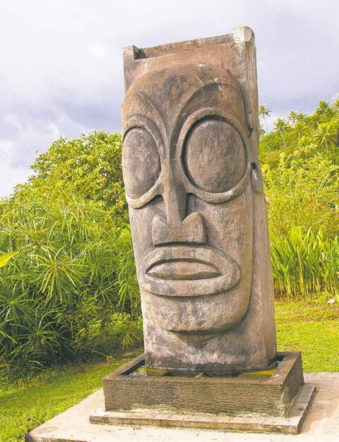 Assumed to have had a religious function in ancient Polynesia, stone faced carvings called 'tikis' can vary in size from mere inches to nearly three metres tall.