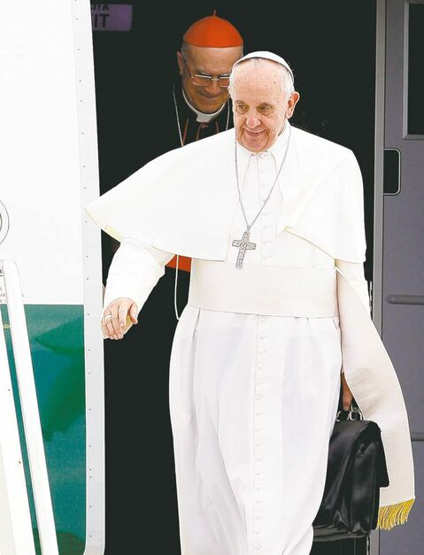 Pope Francis said Monday he won't judge gay priests for their sexual orientation.