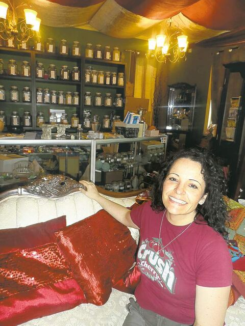 Bernice (Bisson) Cyr at the Soul Medicine Psychic Shoppe�s new digs in St. Boniface.