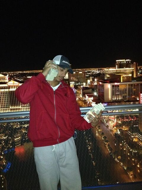 Evander Kane's controversial photo was taken on a trip to Las Vegas in November.