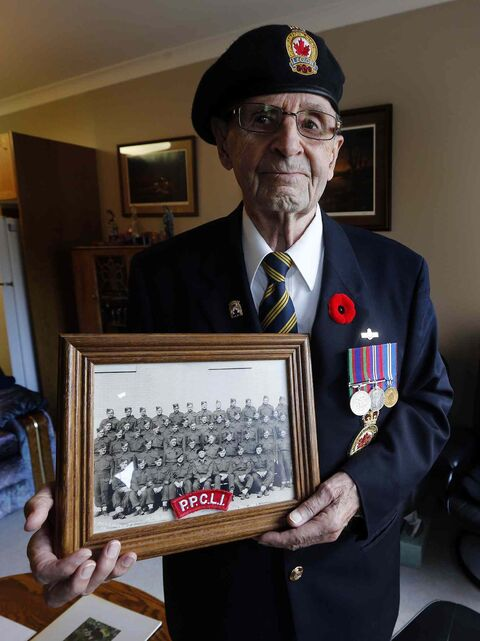Harvey Friesen joined the PPCLI in 1943 at age 16.