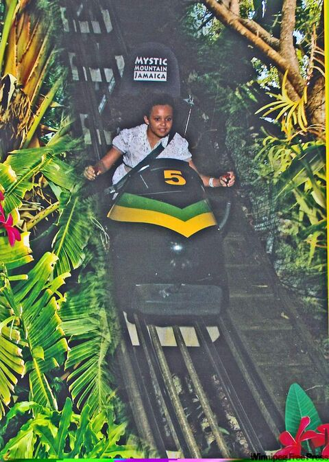 Bobsledding at Mystic Mountain.