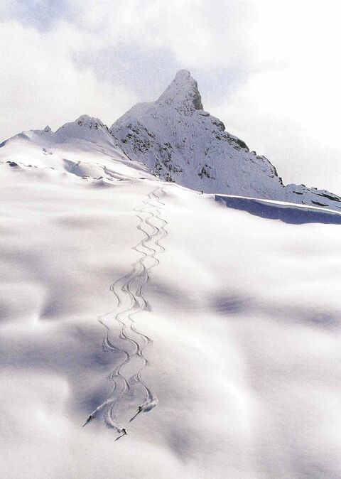 Small-group heli-skiing equals more fresh tracks.