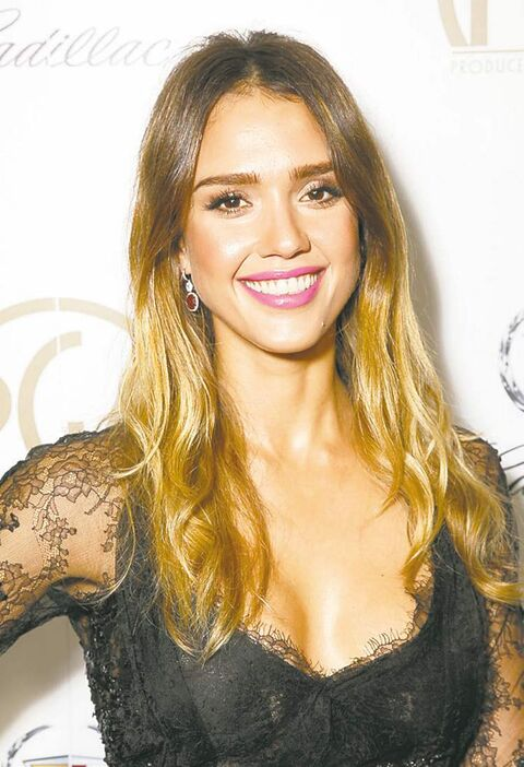 IMAGE DISTRIBUTED FOR THE PRODUCERS GUILD - Jessica Alba poses during the cocktail reception at the 24th Annual Producers Guild (PGA) Awards at the Beverly Hilton Hotel on Saturday Jan. 26, 2013, in Beverly Hills, Calif. (Photo by Todd Williamson/Invision for The Producers Guild/AP Images)
