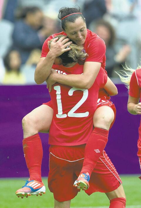 The women's soccer team has a chance to add to the medals total, having reached the semis.