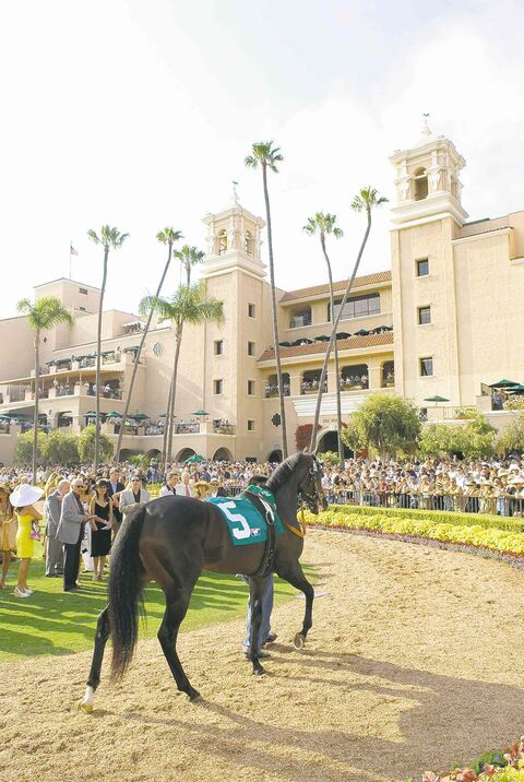 The Del Mar Racetrack was founded in 1937 with the motto 'where the turf meets the surf,' and if you're going to take in the races, be sure to dress up.