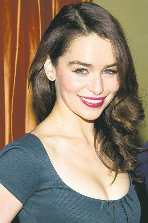 Emilia Clarke attends a press event for the new Broadway adaptation of
