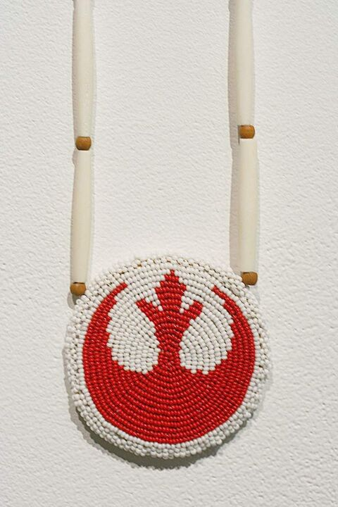 Beaded Star Wars 'regalia' from Peter Morin's Ceremony Experiments
