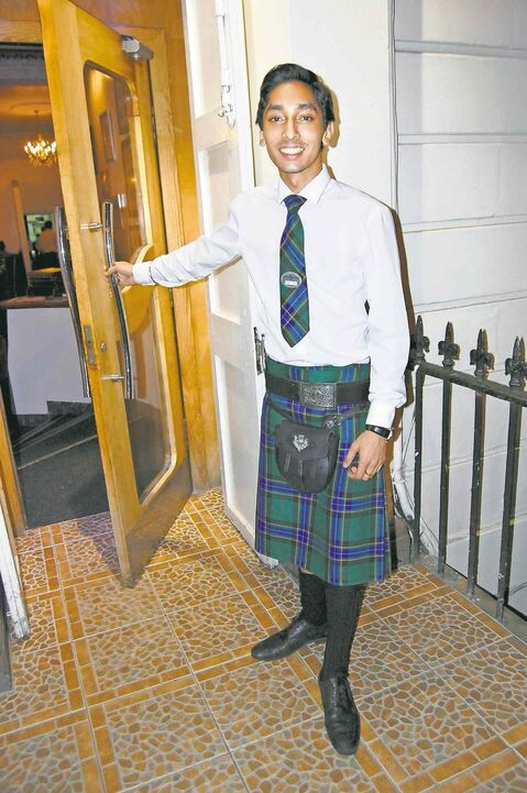 Oleg Singh will serve you a curry with haggis naan bread at Mr. Singh's restaurant in Glasgow.
