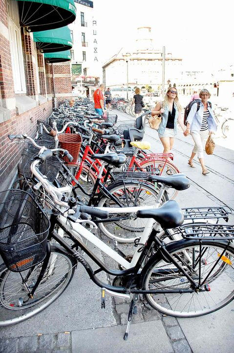 It seems everyone in Copenhagen gets around on bikes. And when parked, no one bothers with a lock because the city has virtually no crime.