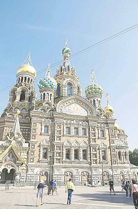 The Church of our Saviour of the Spilled Blood was built on the site where Tsar Alexander II was assassinated in 1881.